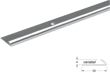 Edge trim light 5mm alu silver matt 270cm